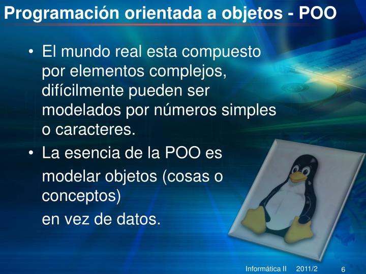 Programación orientada a objetos - POO