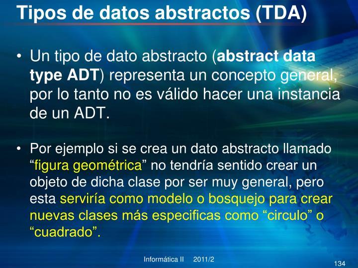 Tipos de datos abstractos (TDA)