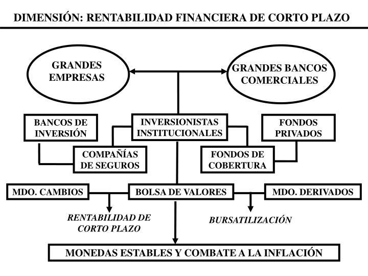DIMENSIÓN: RENTABILIDAD FINANCIERA DE CORTO PLAZO