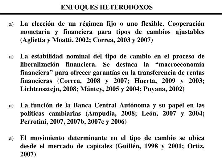 ENFOQUES HETERODOXOS