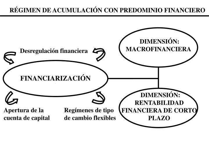 RÉGIMEN DE ACUMULACIÓN CON PREDOMINIO FINANCIERO