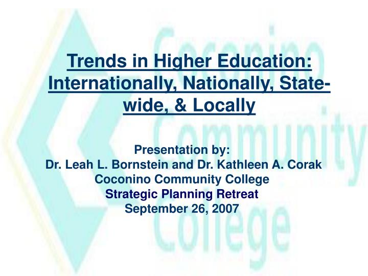 Trends in Higher Education: