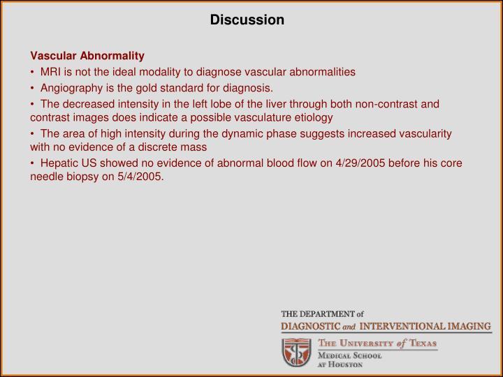 Vascular Abnormality