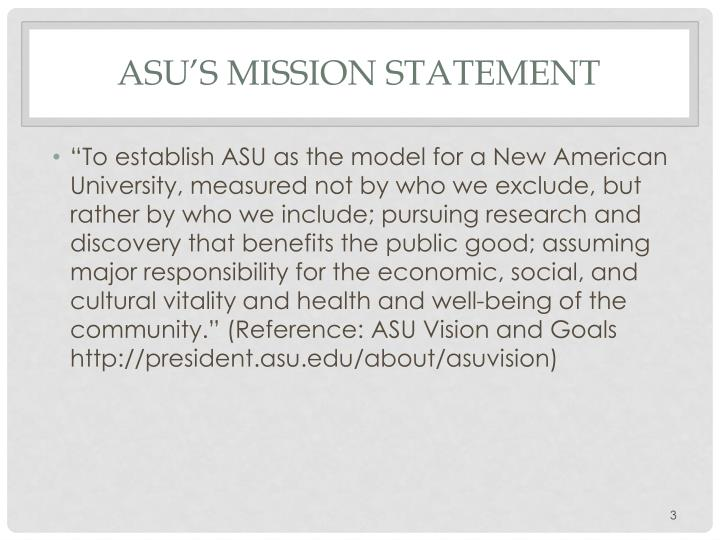 ASU's Mission Statement