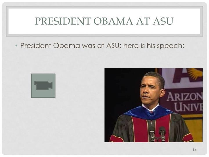President Obama at ASU