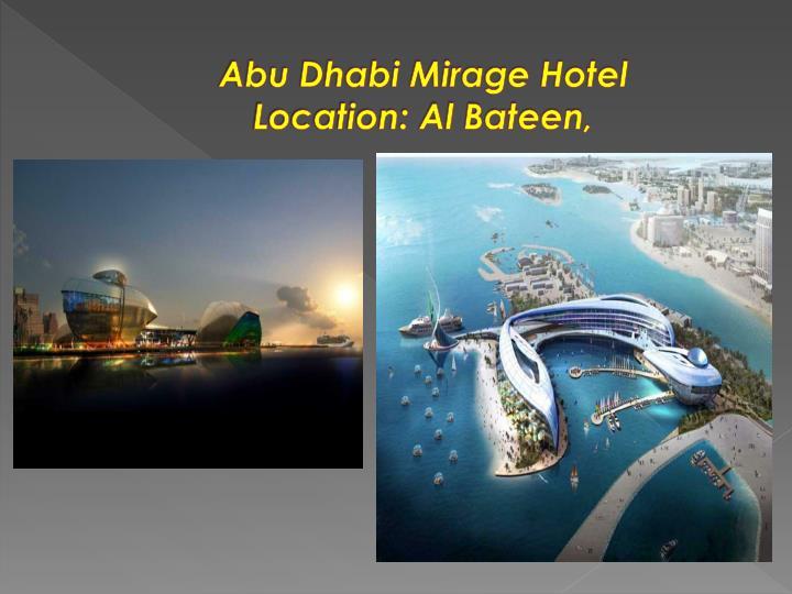 Abu Dhabi Mirage Hotel