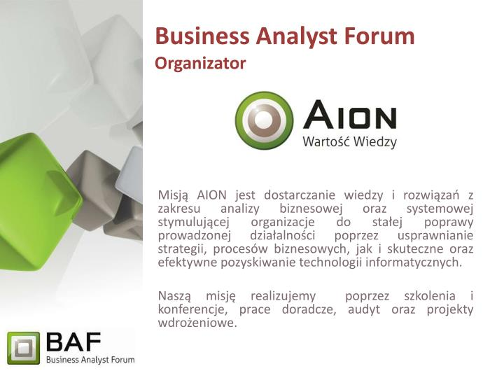 Business Analyst Forum