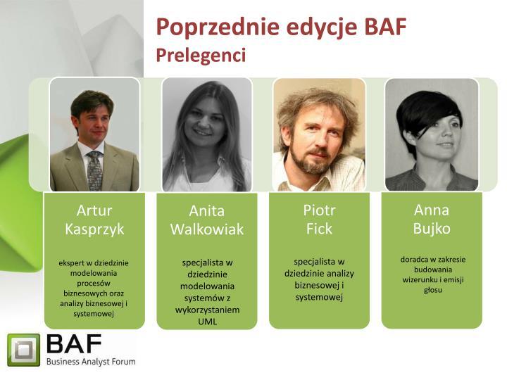 Poprzednie edycje BAF