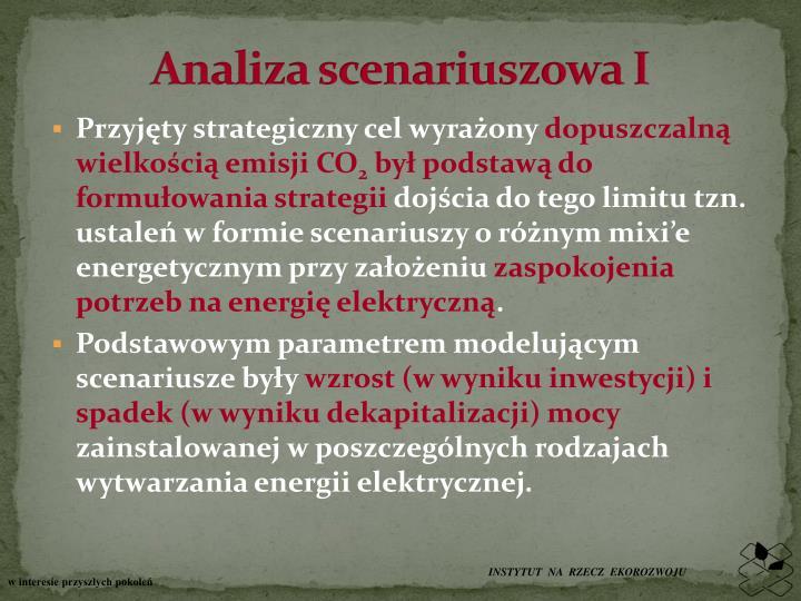 Analiza scenariuszowa I