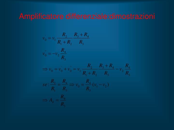 Amplificatore differenziale:dimostrazioni