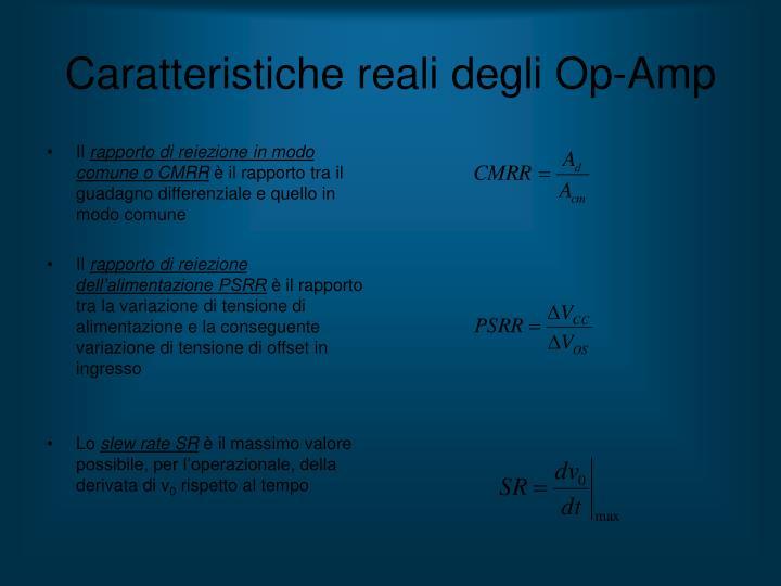 Caratteristiche reali degli Op-Amp