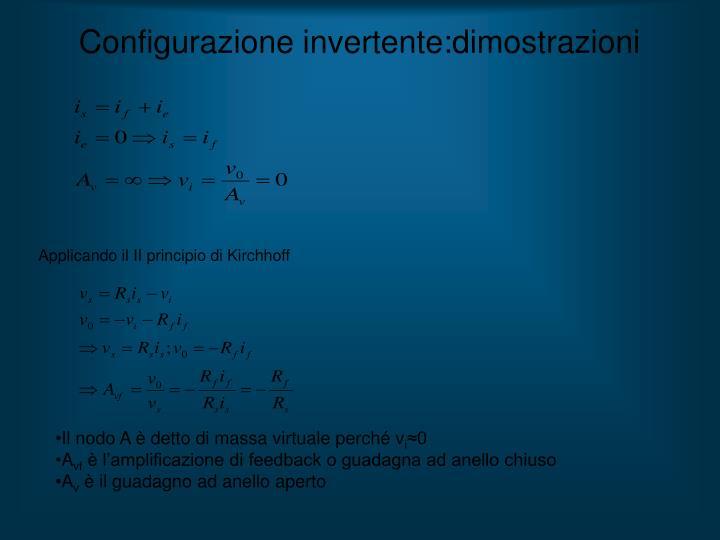 Configurazione invertente:dimostrazioni