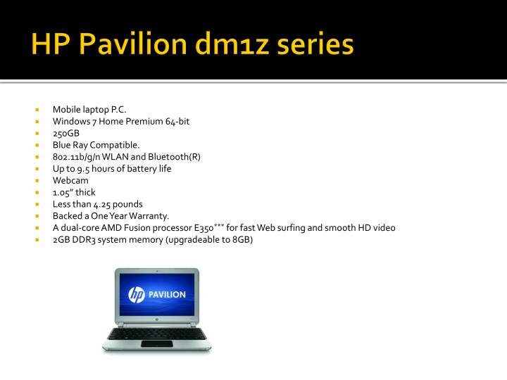 Hp pavilion dm1z series