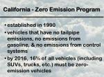 california zero emission program