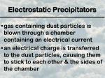 electrostatic precipitators