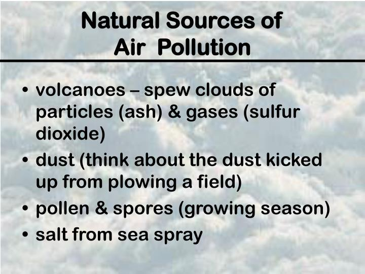 Natural sources of air pollution