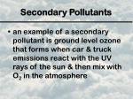 secondary pollutants1