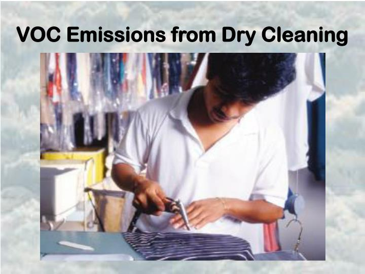 VOC Emissions from Dry Cleaning