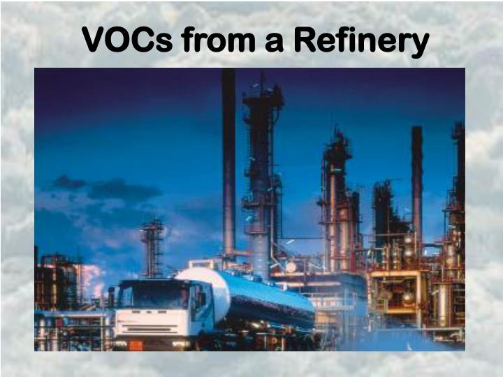 VOCs from a Refinery