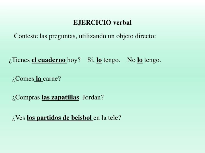 EJERCICIO verbal