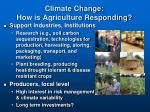climate change how is agriculture responding