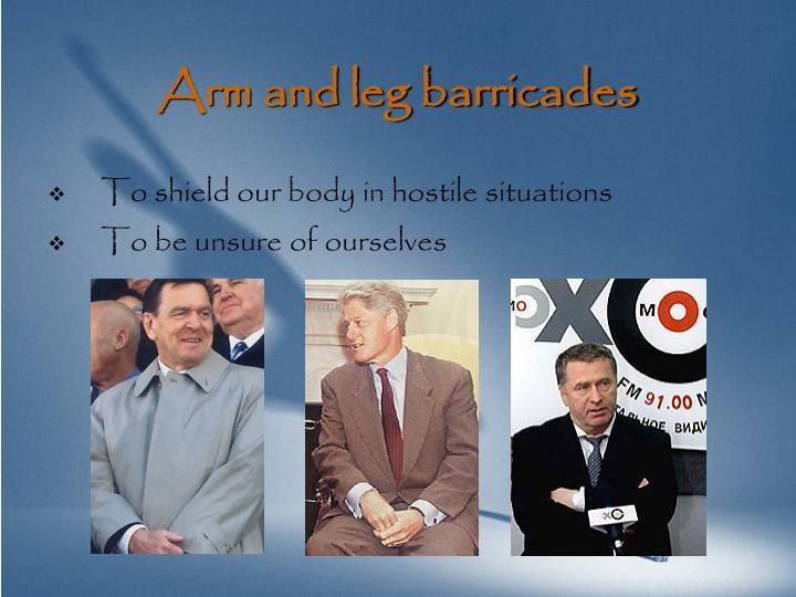 Arm and leg barricades