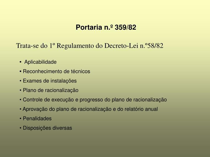 Portaria n.º 359/82