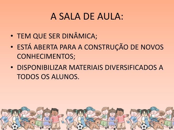 A SALA DE AULA: