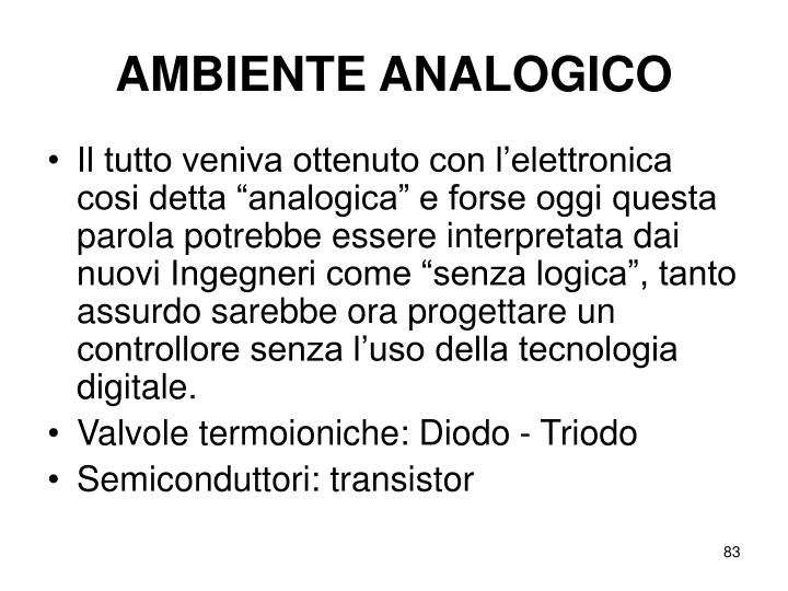 AMBIENTE ANALOGICO