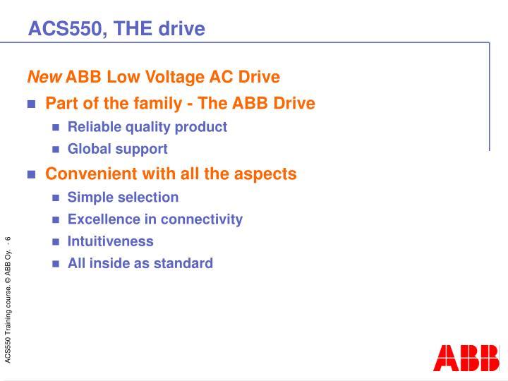 ACS550, THE drive