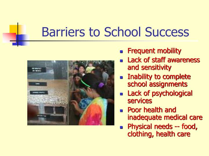 Barriers to School Success