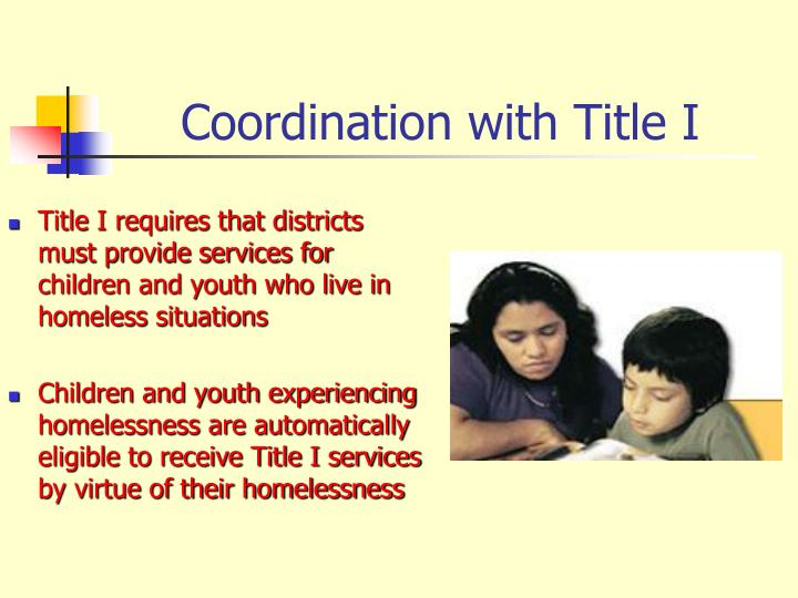 Coordination with Title I