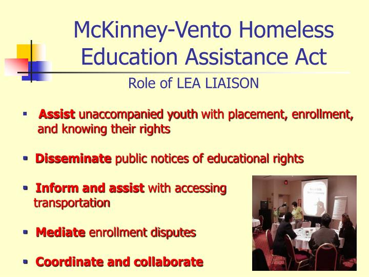 McKinney-Vento Homeless Education Assistance Act