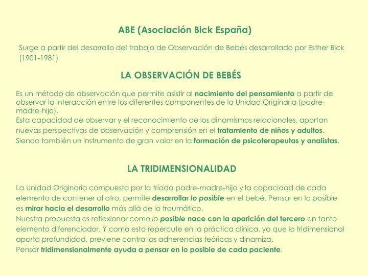 ABE (Asociación Bick España)