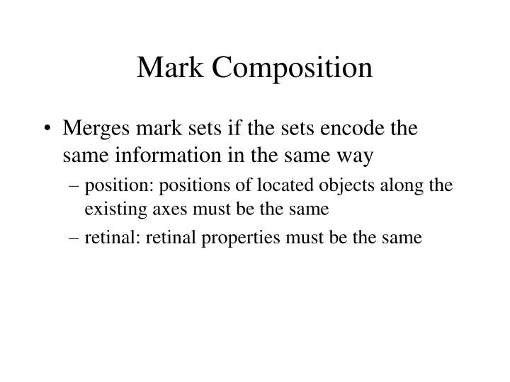 Mark Composition