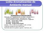 linha aromatizantes de ambiente manual