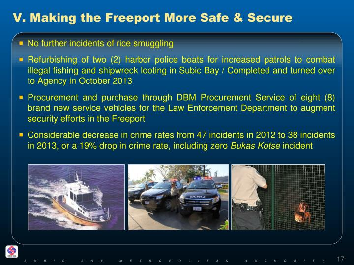 V. Making the Freeport More Safe & Secure