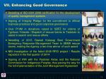 vii enhancing good governance