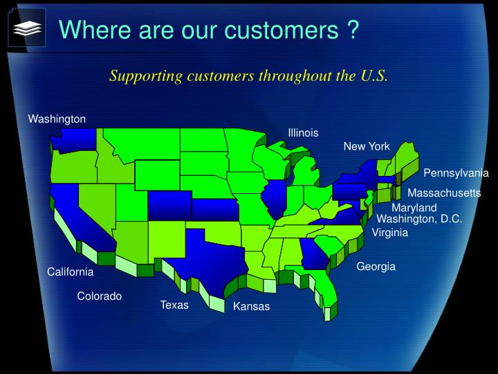 Where are our customers ?