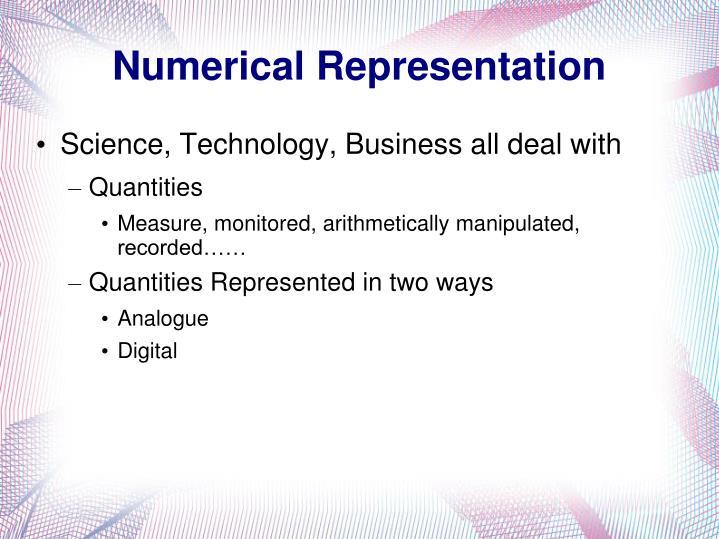 Numerical Representation