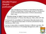 bsc im project sample publications
