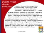 bsc im project sample publications1
