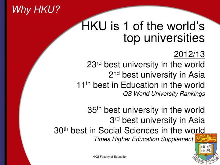 Why HKU?