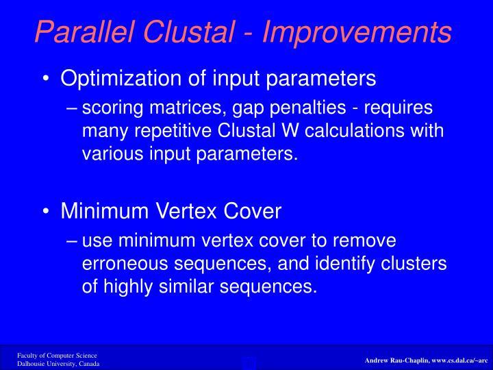 Parallel Clustal - Improvements