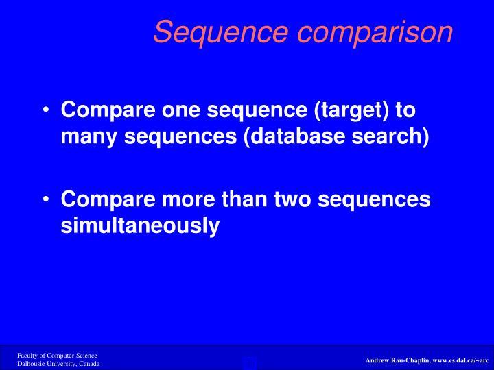 Sequence comparison