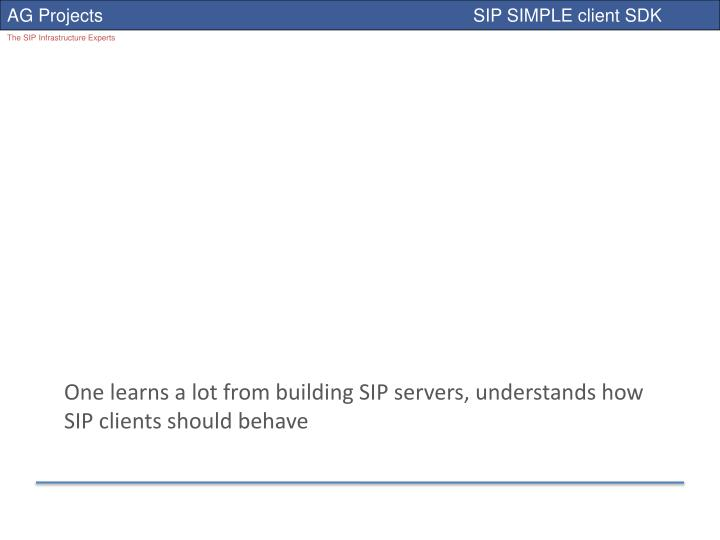 One learns a lot from building SIP servers, understands how SIP clients should behave