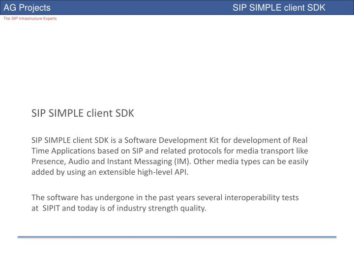 SIP SIMPLE client SDK