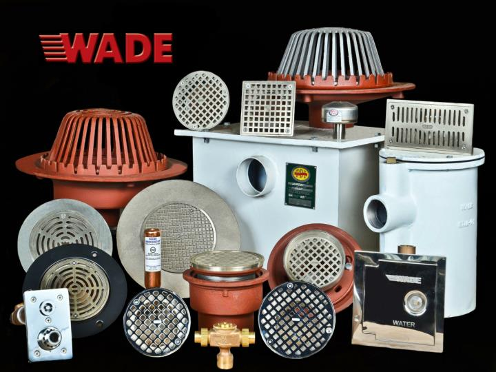 Wade is a division of bibby ste croix complete line of commercial drainage products