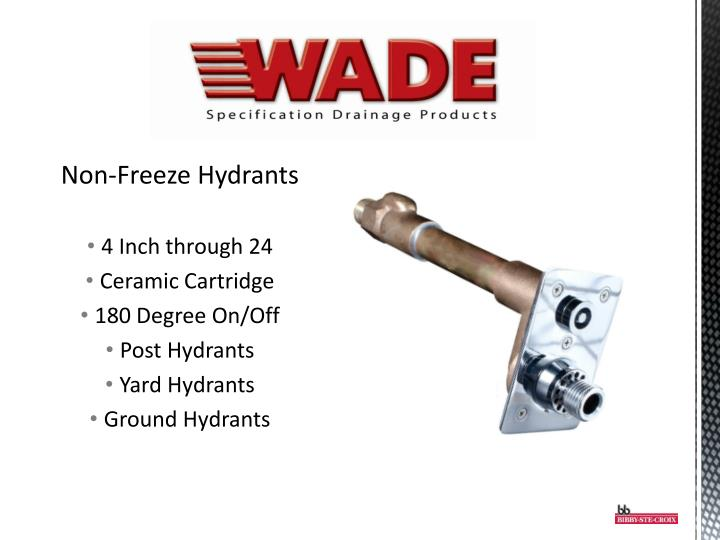 Non-Freeze Hydrants