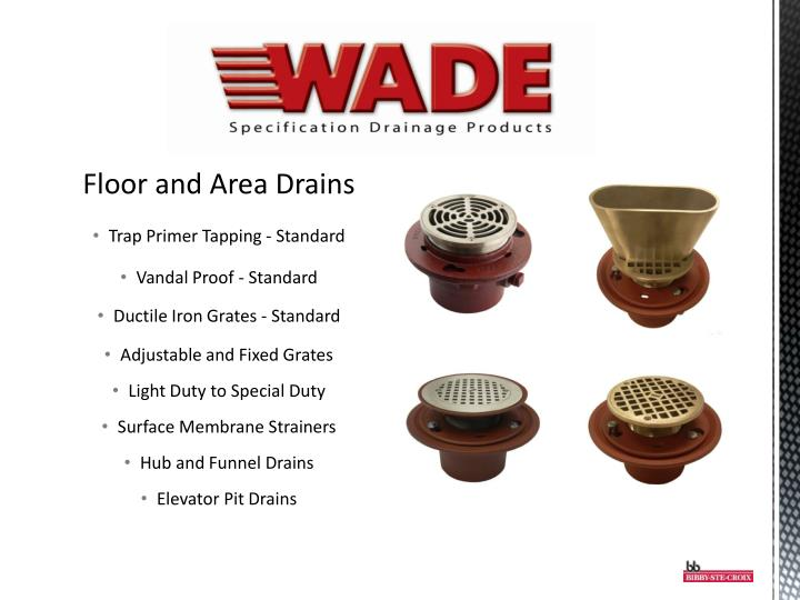 Floor and Area Drains